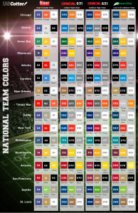 Are You Ready For Some Football Vinyl Team Colors Matched