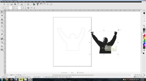 Draw a contour cut path around the figure and send to cutter. Now you have a vinyl silhouette isolated from a photograph!
