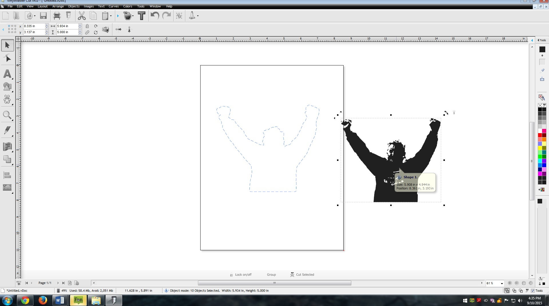 Contour Cropping For Vinyl Silhouettes Using Powerpoint