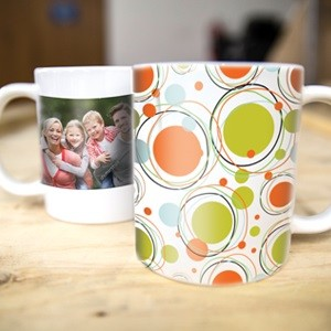 Put family photos or any image on a mug with vibrant dye-sublimation inks.