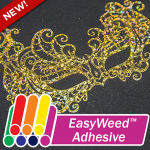 EasyWeed Adhesive sticks hot stamping screenprint foil, as well as any fabric to a shirt!