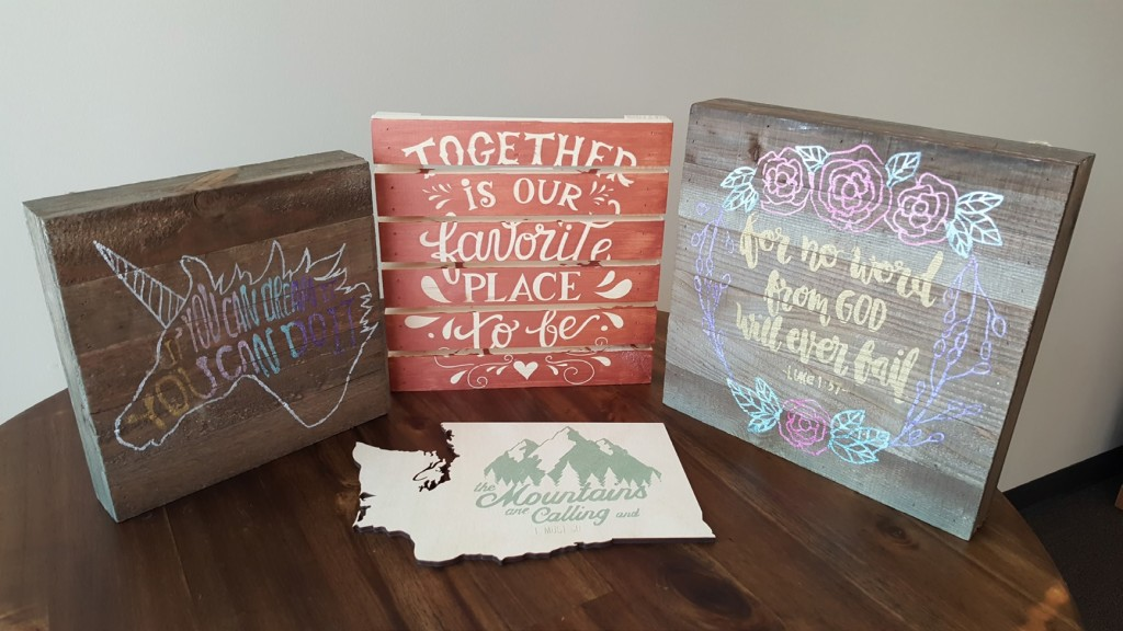 Make your own custom-painted sign with a design of your choosing!